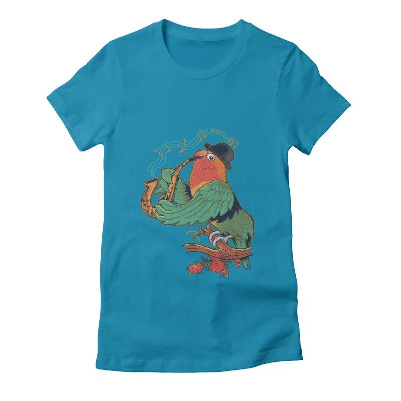love bird Women's Fitted T-Shirt by methlop39's Artist Shop