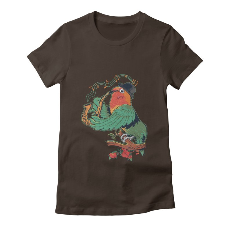 love bird Women's Fitted T-Shirt by methlop39's Artist Shop