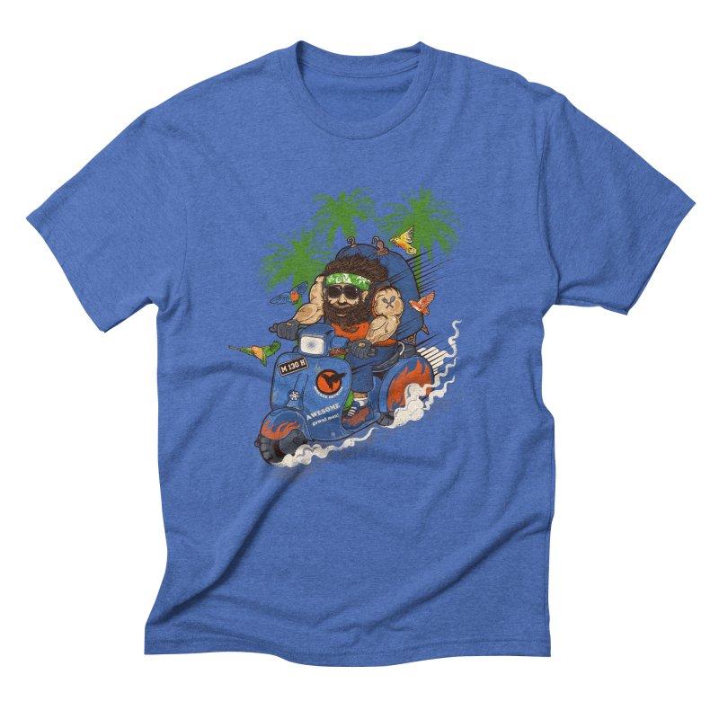 bird master Men's Triblend T-shirt by methlop39's Artist Shop