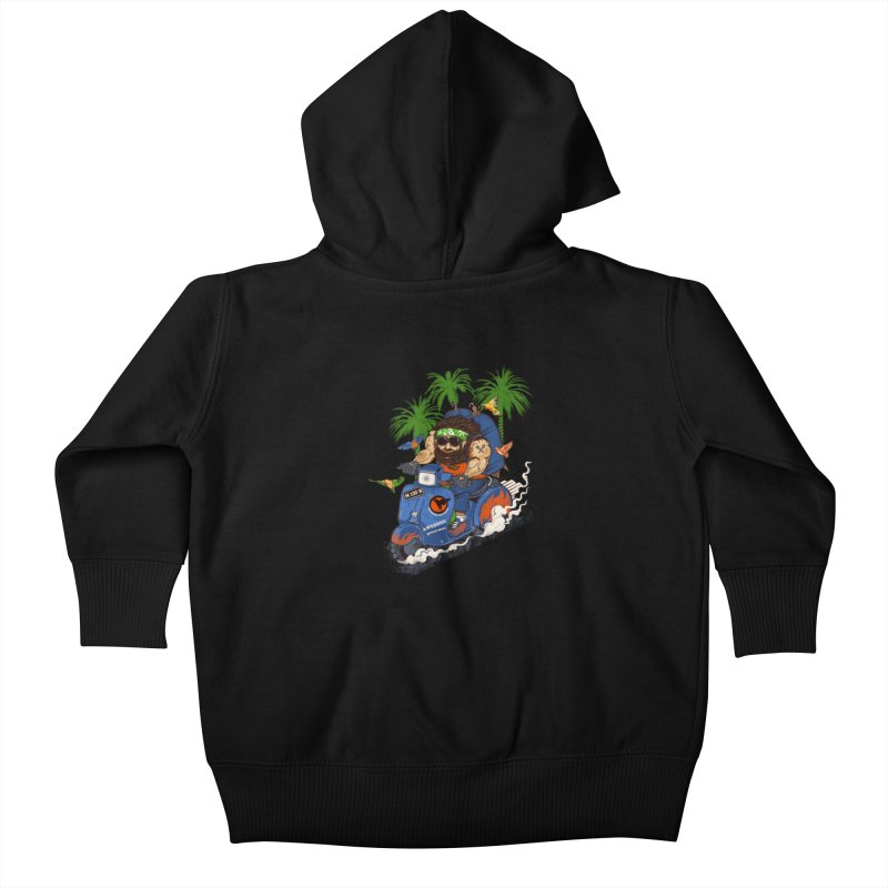 bird master Kids Baby Zip-Up Hoody by methlop39's Artist Shop