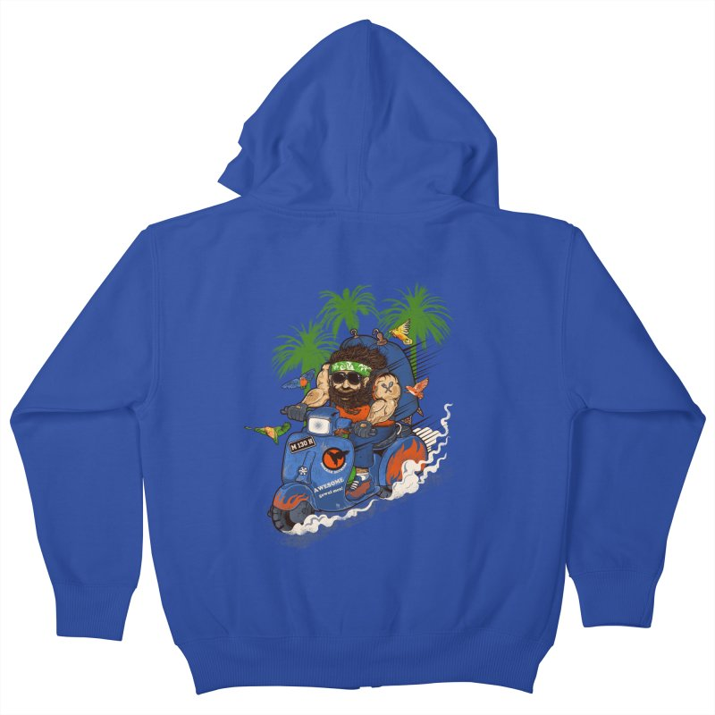 bird master Kids Zip-Up Hoody by methlop39's Artist Shop