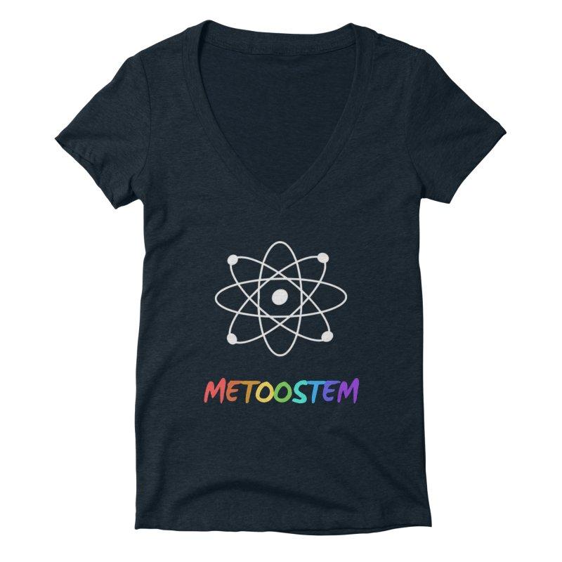 MeTooSTEM Rainbow Women's Deep V-Neck V-Neck by MeTooSTEM