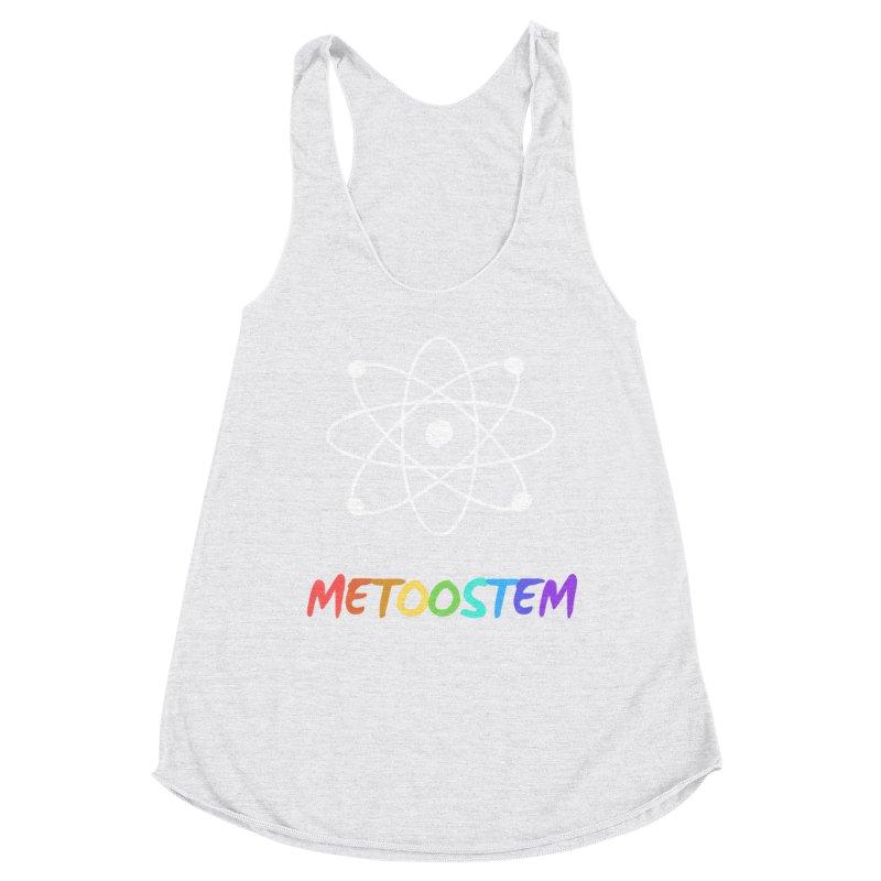 MeTooSTEM Rainbow Women's Racerback Triblend Tank by MeTooSTEM