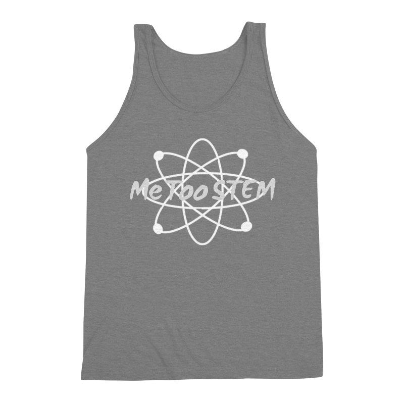 MeTooSTEM Atom Men's Triblend Tank by MeTooSTEM