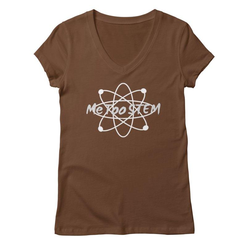 MeTooSTEM Atom Women's Regular V-Neck by MeTooSTEM