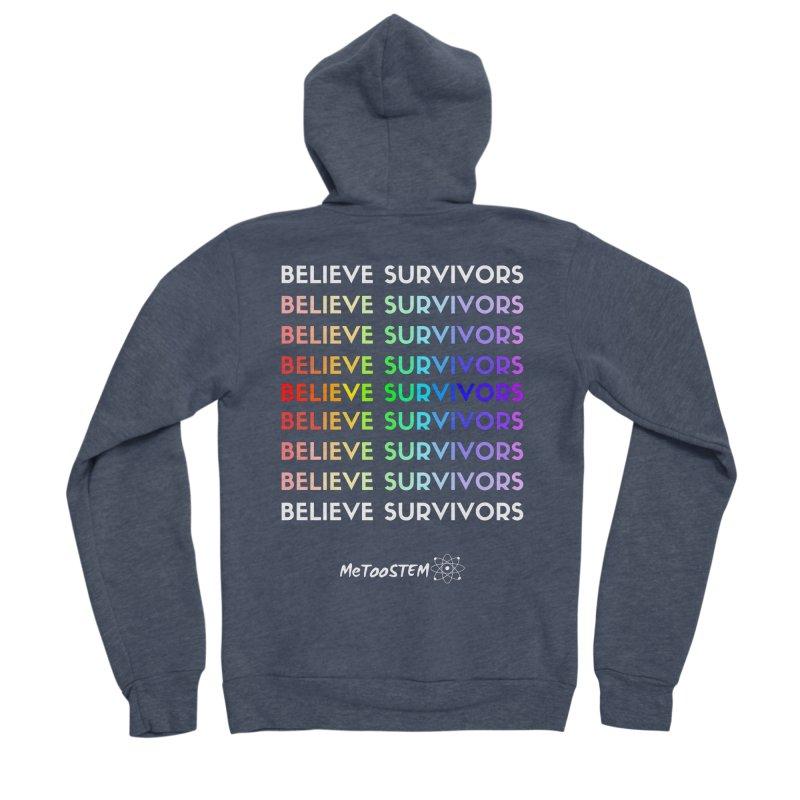 Believe Survivors - Rainbow Men's Sponge Fleece Zip-Up Hoody by MeTooSTEM