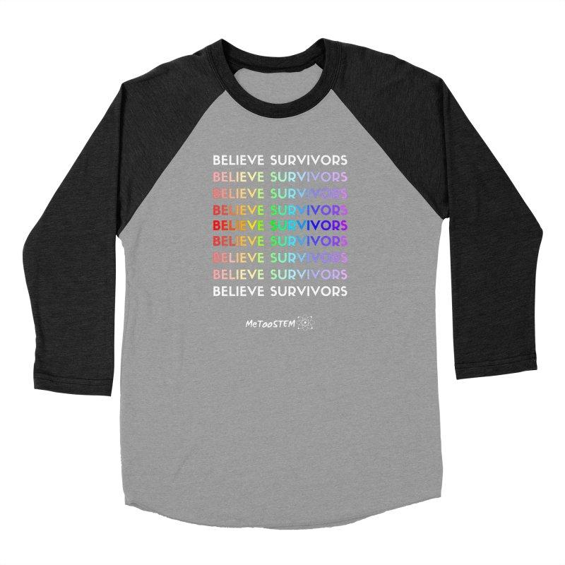 Believe Survivors - Rainbow Men's Baseball Triblend Longsleeve T-Shirt by MeTooSTEM
