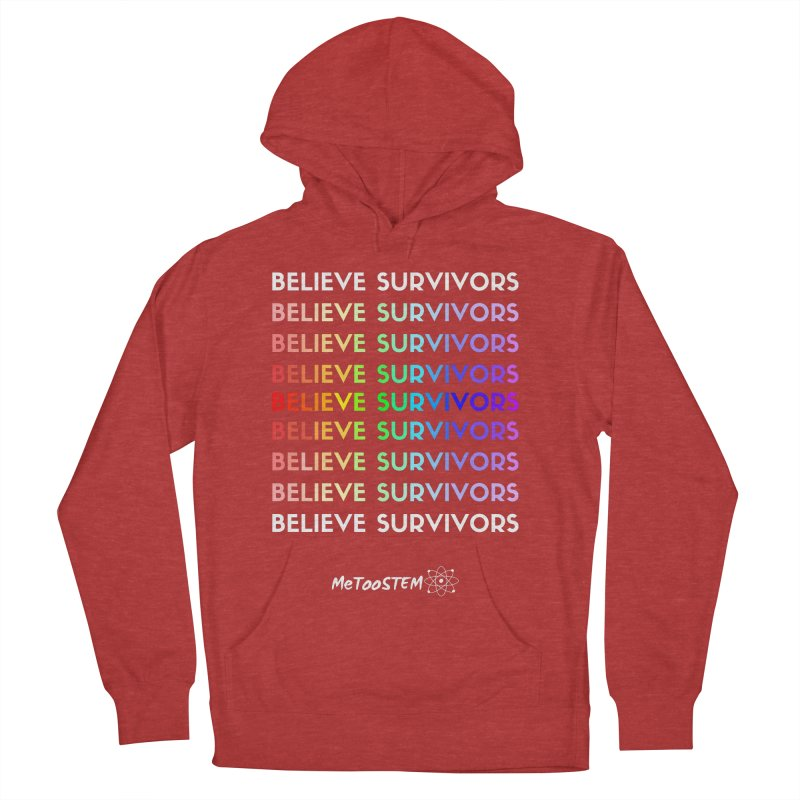 Believe Survivors - Rainbow Men's French Terry Pullover Hoody by MeTooSTEM