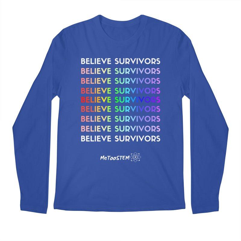 Believe Survivors - Rainbow Men's Regular Longsleeve T-Shirt by MeTooSTEM