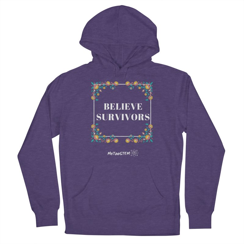 Believe Survivors - Floral Men's French Terry Pullover Hoody by MeTooSTEM