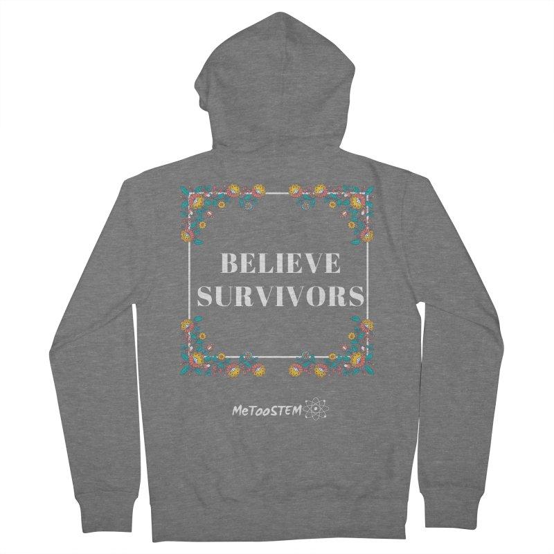 Believe Survivors - Floral Men's French Terry Zip-Up Hoody by MeTooSTEM