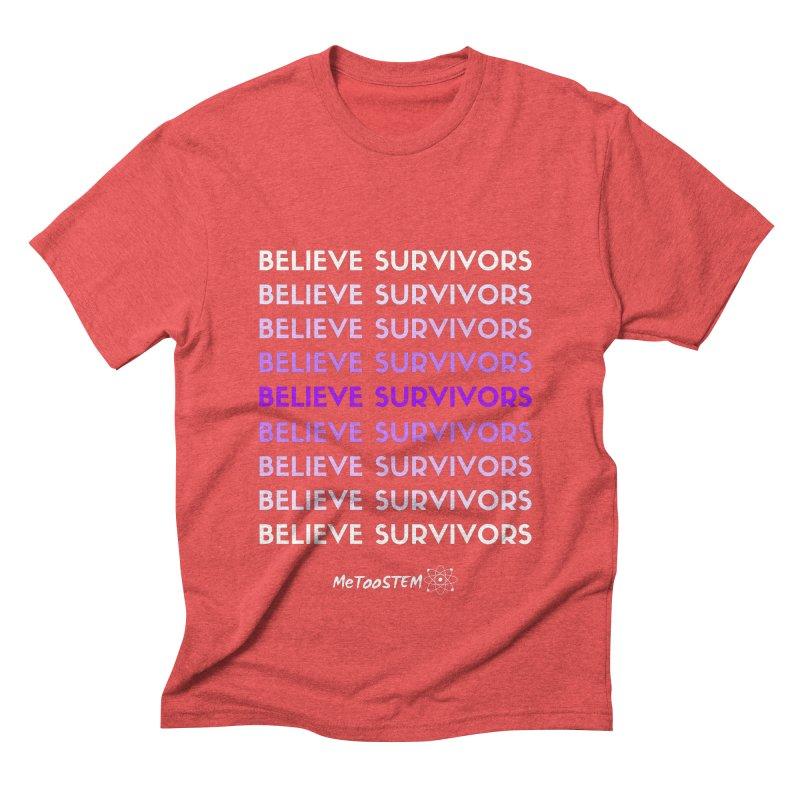 Believe Survivors - Purple Men's Triblend T-Shirt by MeTooSTEM