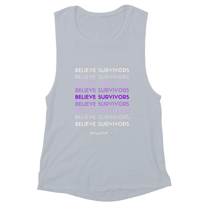 Believe Survivors - Purple Women's Muscle Tank by MeTooSTEM