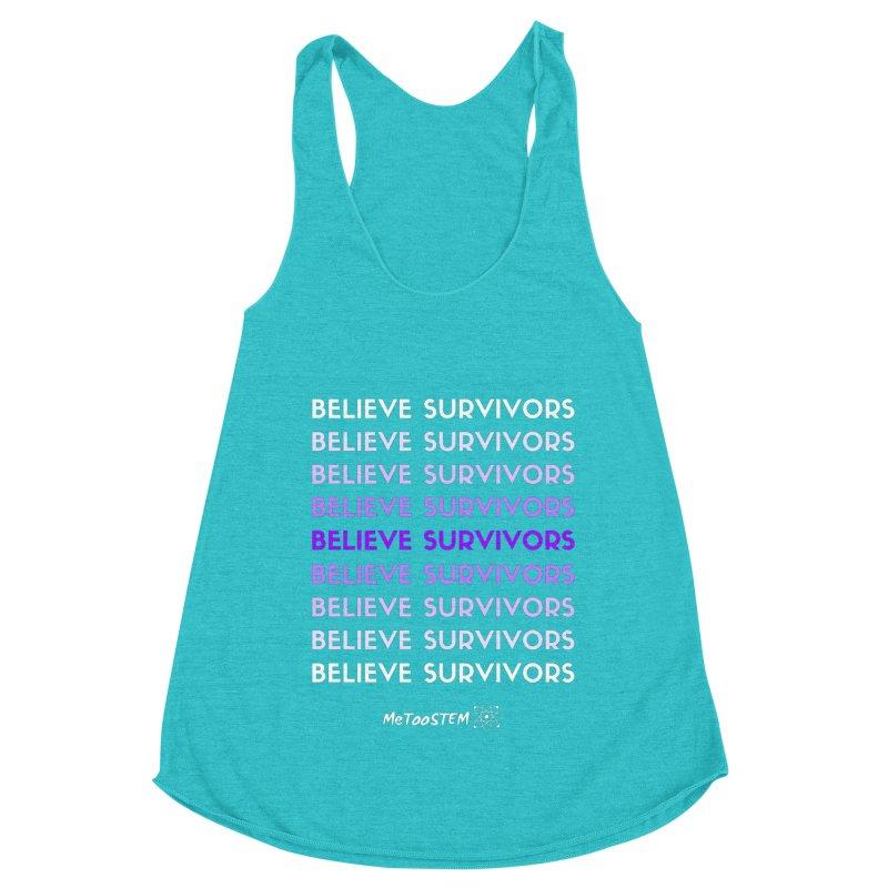 Believe Survivors - Purple Women's Racerback Triblend Tank by MeTooSTEM