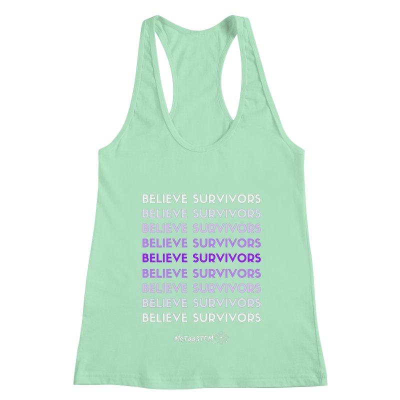 Believe Survivors - Purple Women's Racerback Tank by MeTooSTEM