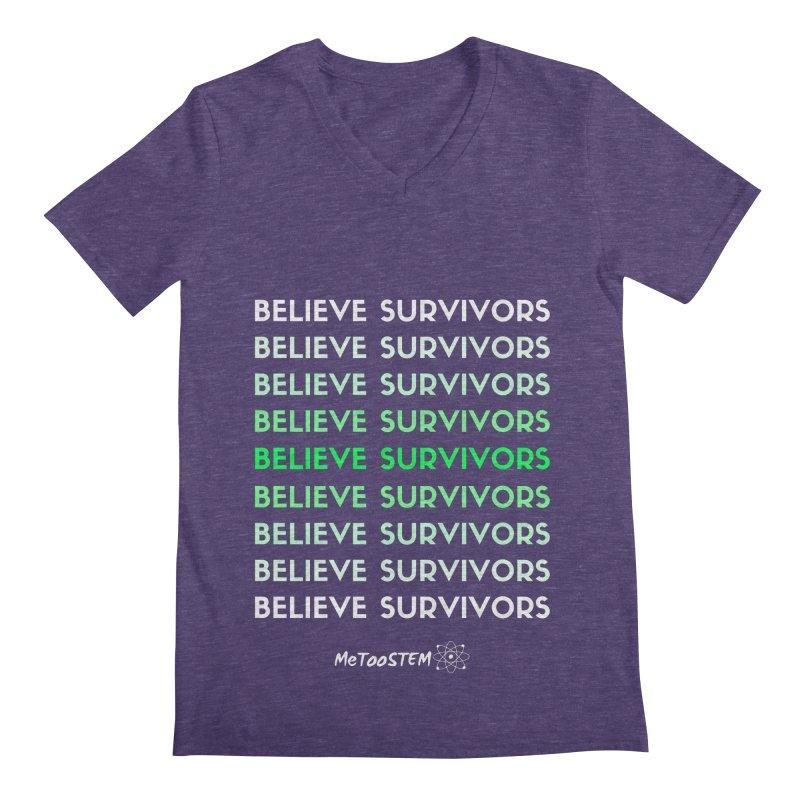 Believe Survivors - Green Men's Regular V-Neck by MeTooSTEM