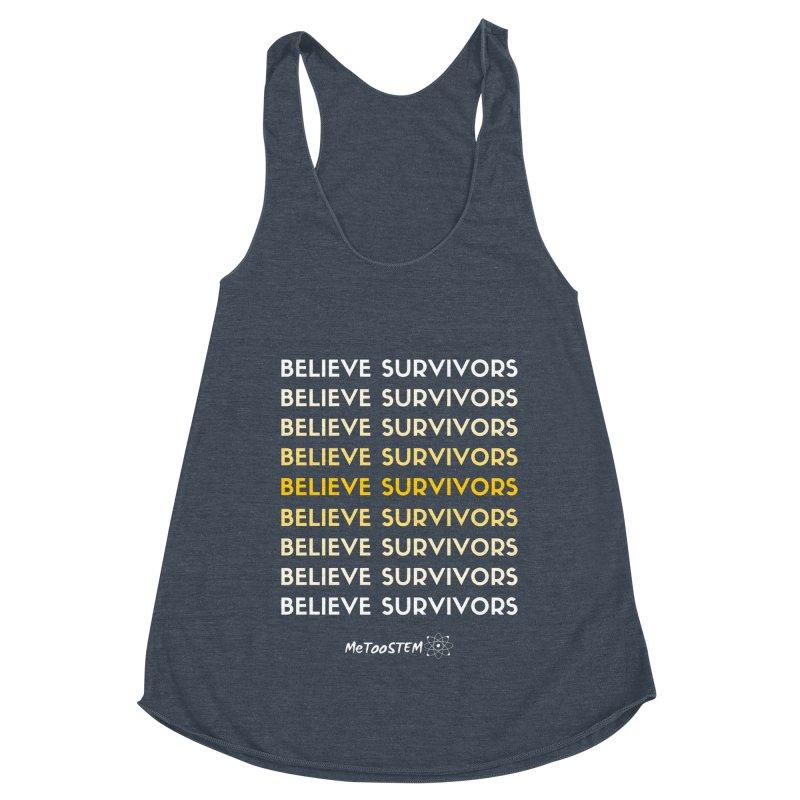 Believe Survivors - Yellow Women's Racerback Triblend Tank by MeTooSTEM
