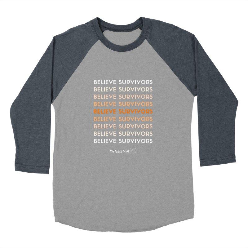Believe Survivors - Orange Men's Baseball Triblend Longsleeve T-Shirt by MeTooSTEM