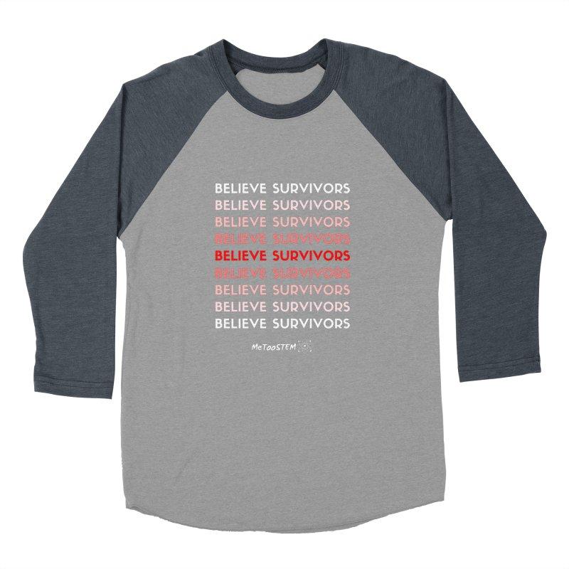 Believe Survivors - Red Men's Baseball Triblend Longsleeve T-Shirt by MeTooSTEM