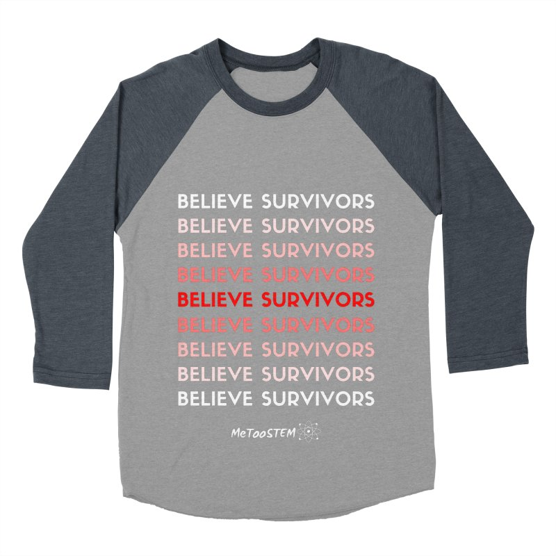 Believe Survivors - Red Women's Baseball Triblend Longsleeve T-Shirt by MeTooSTEM