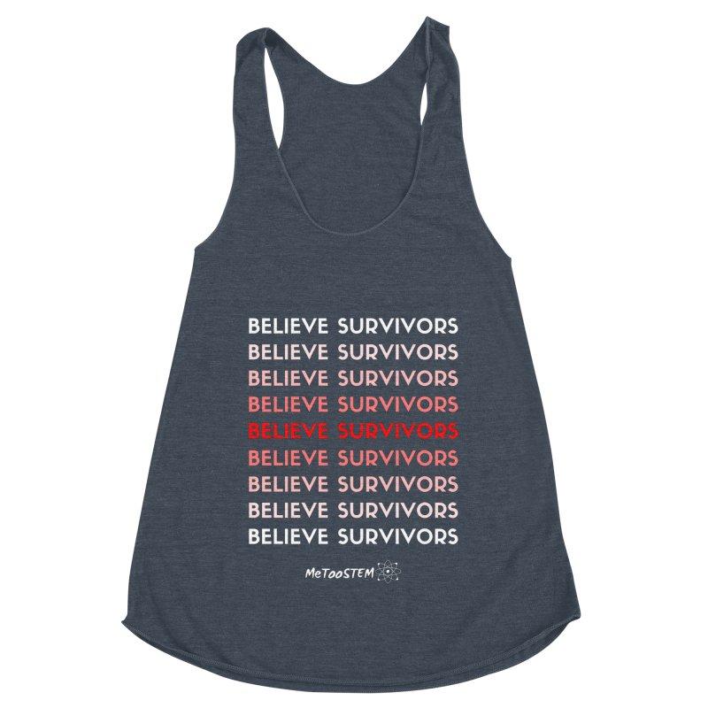 Believe Survivors - Red Women's Racerback Triblend Tank by MeTooSTEM