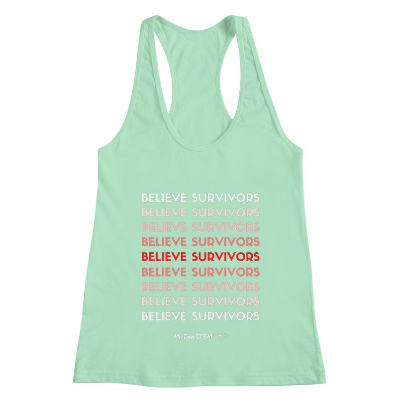 Believe Survivors - Red Women's Racerback Tank by MeTooSTEM