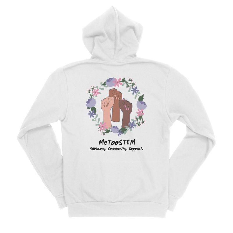 MeTooSTEM - Floral Women's Sponge Fleece Zip-Up Hoody by MeTooSTEM