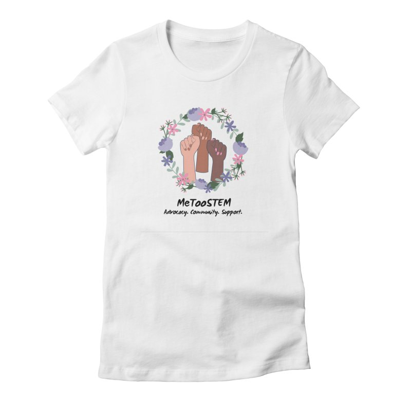MeTooSTEM - Floral Women's Fitted T-Shirt by MeTooSTEM