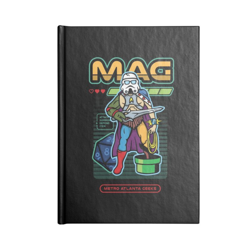 Metro Atlanta Geeks 2018 Accessories Lined Journal Notebook by MAG Official Merch