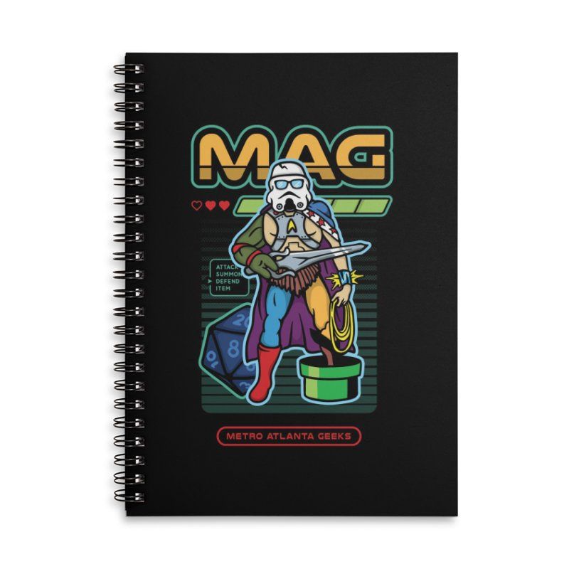Metro Atlanta Geeks 2018 Accessories Lined Spiral Notebook by ATL Geek Merch Shop