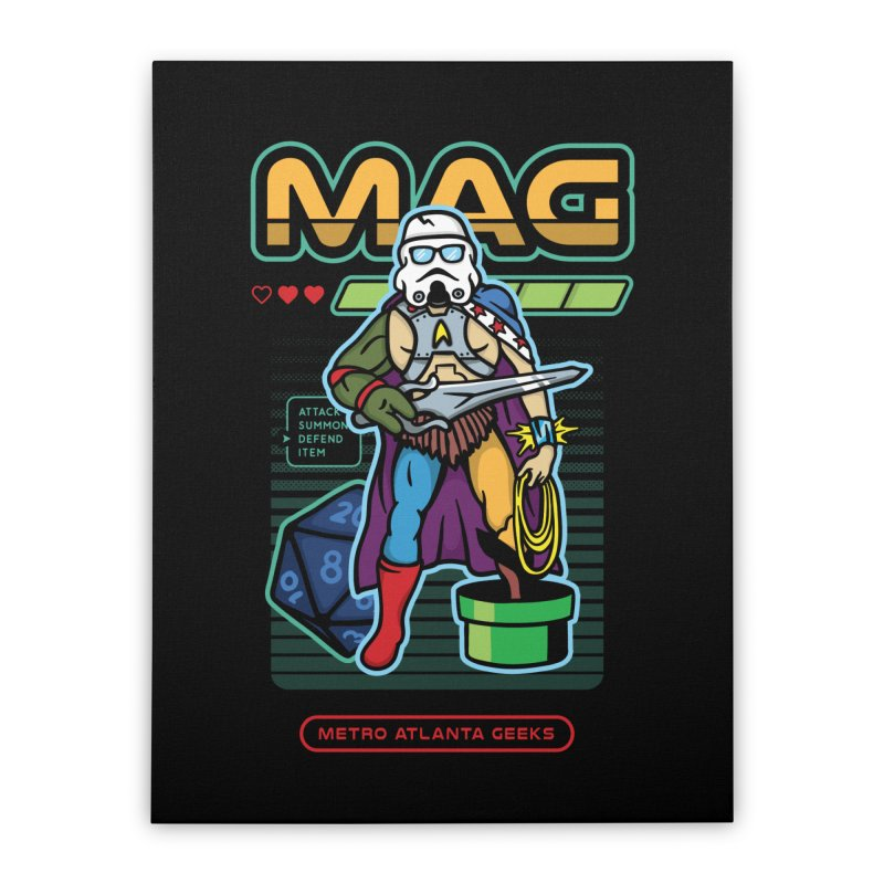 Metro Atlanta Geeks 2018 Home Stretched Canvas by ATL Geek Merch Shop