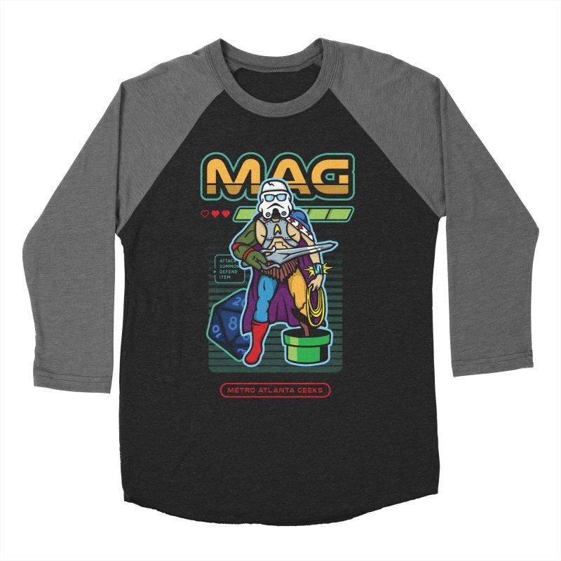 Metro Atlanta Geeks 2018 Men's Baseball Triblend Longsleeve T-Shirt by ATL Geek Merch Shop