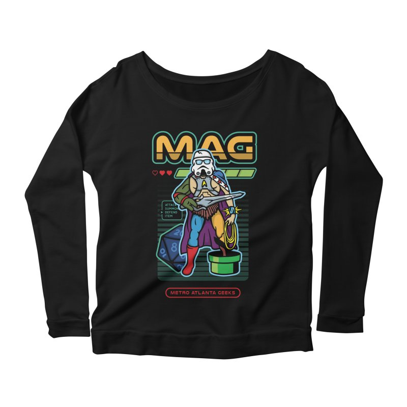 Metro Atlanta Geeks 2018 Women's Scoop Neck Longsleeve T-Shirt by ATL Geek Merch Shop