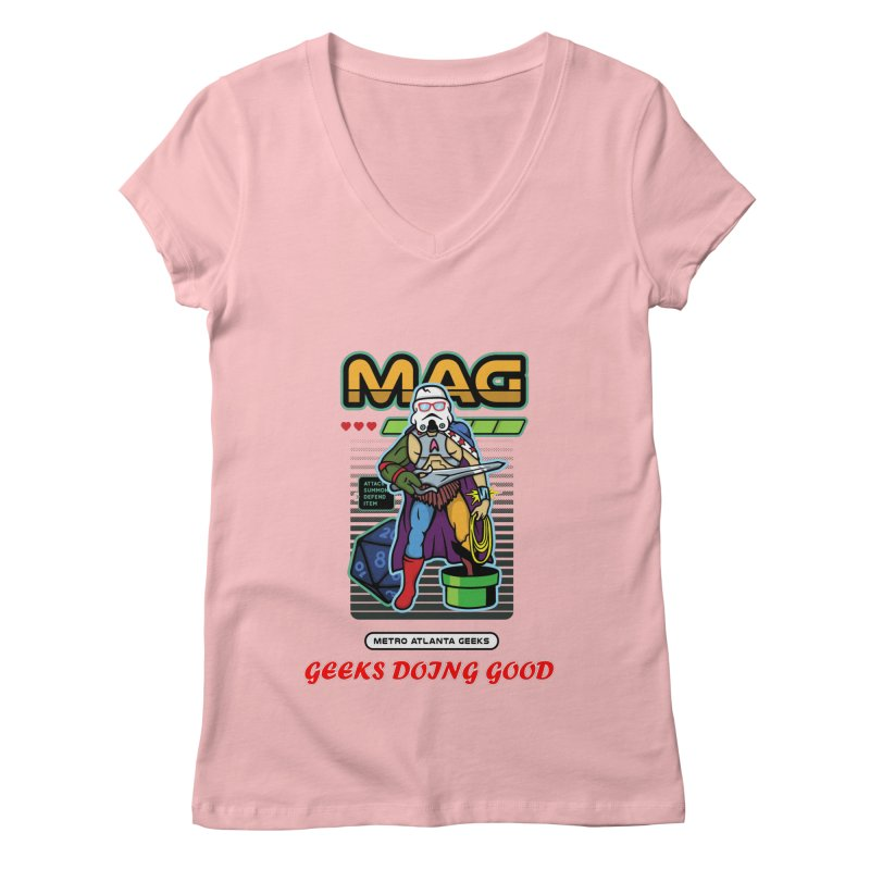 2018 PINK Women's V-Neck by MAG Official Merch