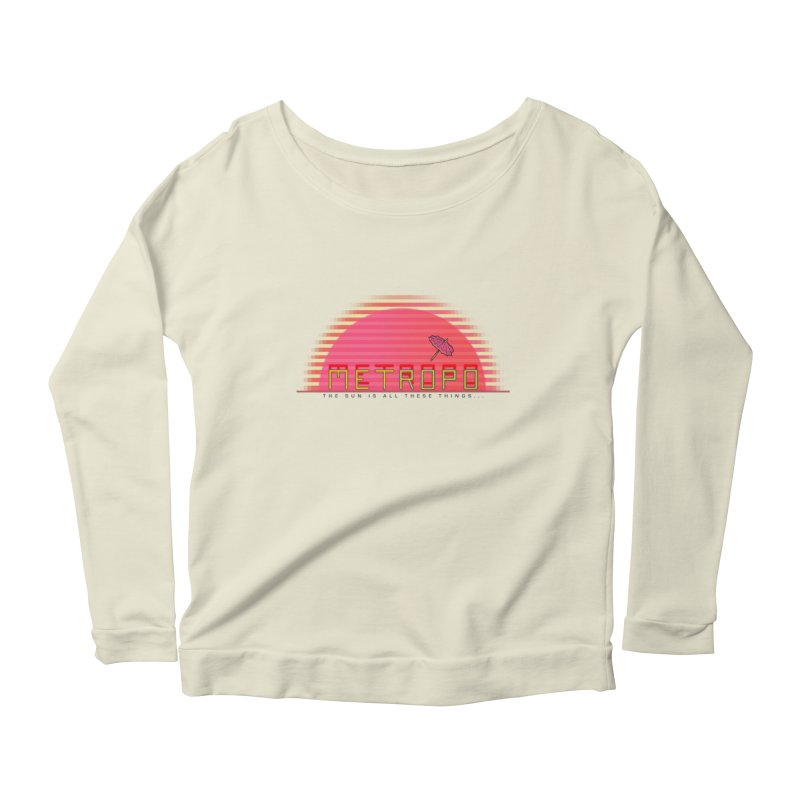 Metropo Sunrise Women's Longsleeve T-Shirt by METROPO the unending city