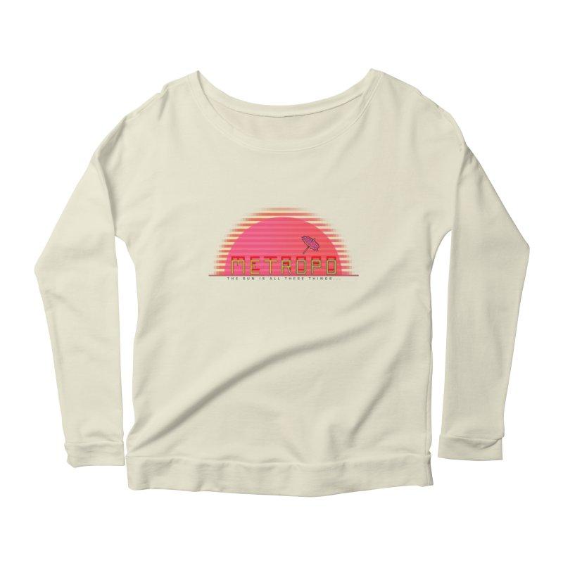 Metropo Sunrise Women's Scoop Neck Longsleeve T-Shirt by METROPO the unending city