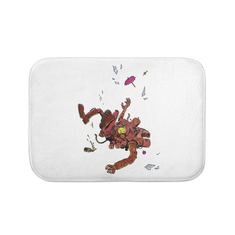 Bartender Andy Home Bath Mat by METROPO the unending city