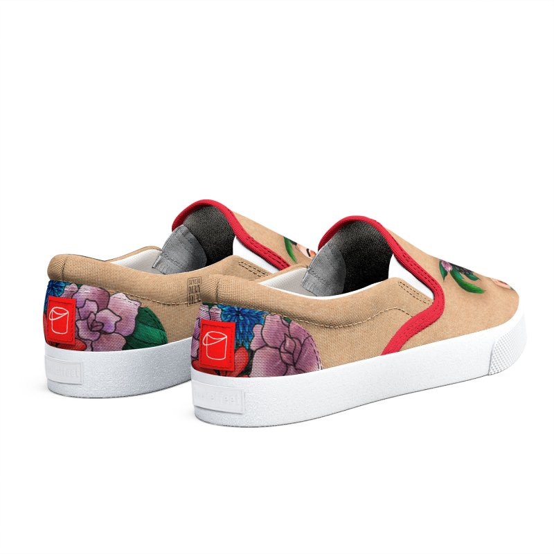 Metro&medio Designs - Flower crown Pin-up Men's Shoes by metroymedio's Artist Shop