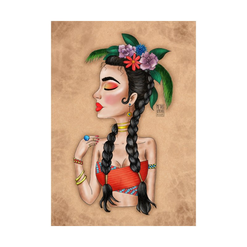 Metro&medio Designs - Flower crown Pin-up by metroymedio's Artist Shop