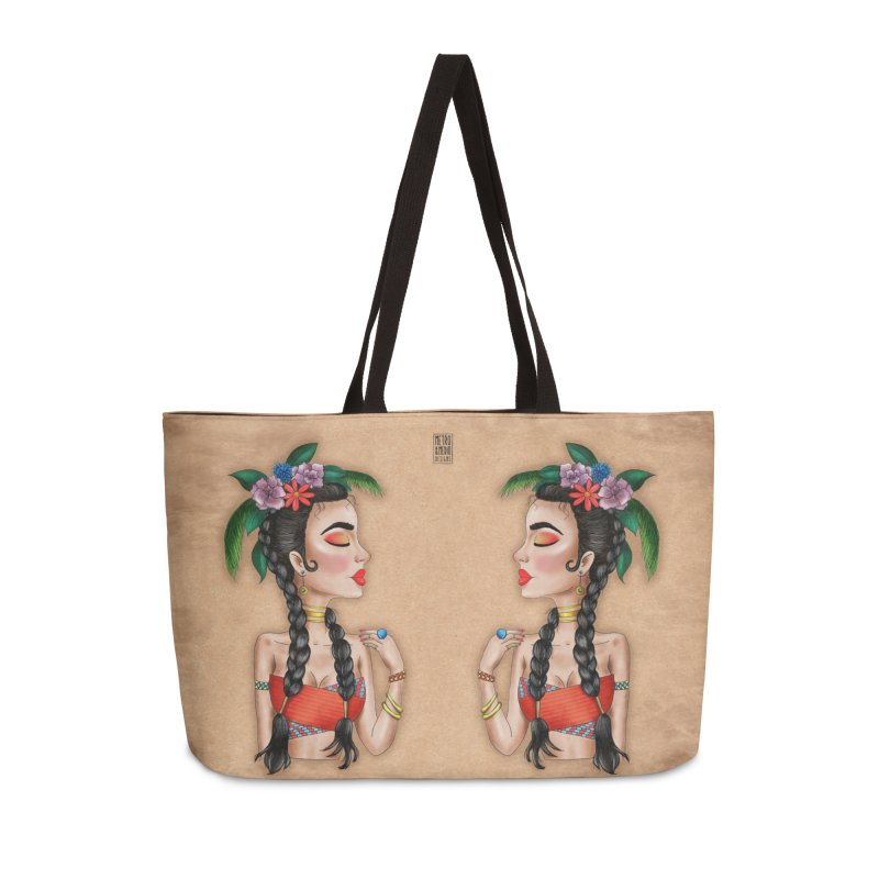 Metro&medio Designs - Flower crown Pin-up Accessories Bag by metroymedio's Artist Shop