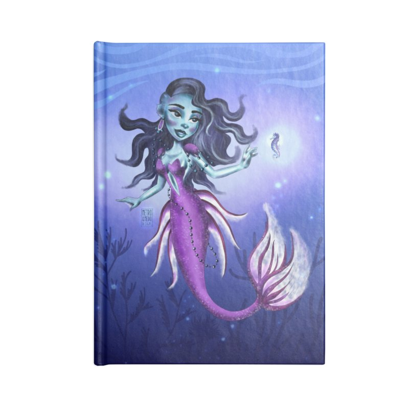 Metro&medio Designs - Purple mermaid Accessories Notebook by metroymedio's Artist Shop