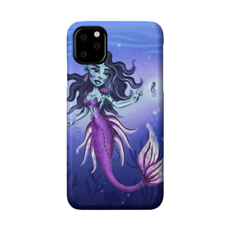 Metro&medio Designs - Purple mermaid Accessories Phone Case by metroymedio's Artist Shop