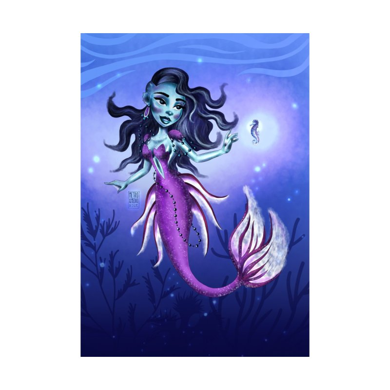 Metro&medio Designs - Purple mermaid Home Fine Art Print by metroymedio's Artist Shop