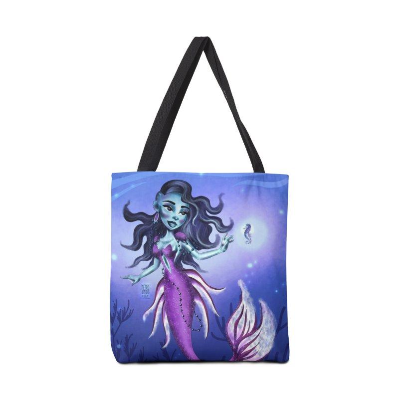 Metro&medio Designs - Purple mermaid Accessories Tote Bag Bag by metroymedio's Artist Shop