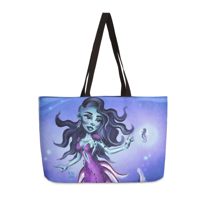 Metro&medio Designs - Purple mermaid Accessories Bag by metroymedio's Artist Shop
