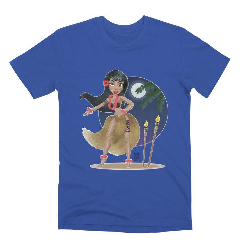 Metro&medio Designs - Hula Dancer Pin-up Men's T-Shirt by metroymedio's Artist Shop