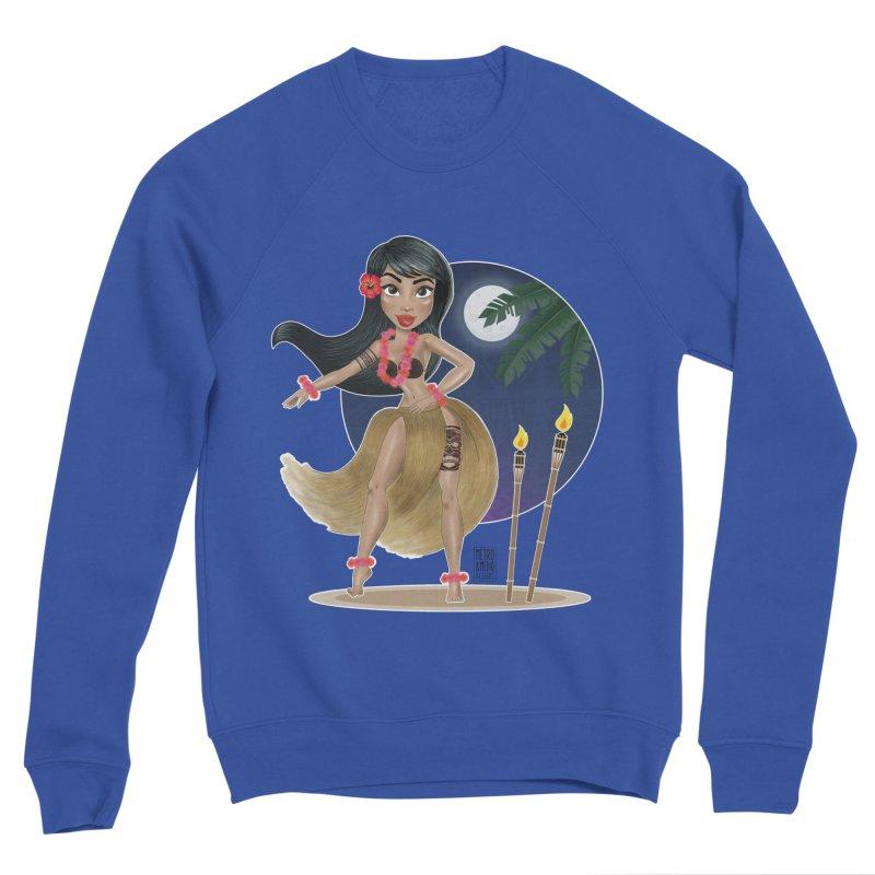 Metro&medio Designs - Hula Dancer Pin-up Men's Sponge Fleece Sweatshirt by metroymedio's Artist Shop