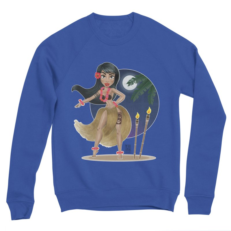 Metro&medio Designs - Hula Dancer Pin-up Women's Sweatshirt by metroymedio's Artist Shop