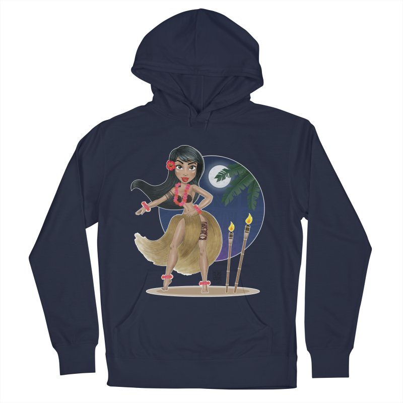 Metro&medio Designs - Hula Dancer Pin-up Women's French Terry Pullover Hoody by metroymedio's Artist Shop