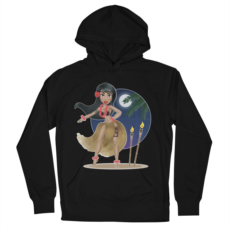 Metro&medio Designs - Hula Dancer Pin-up Men's French Terry Pullover Hoody by metroymedio's Artist Shop